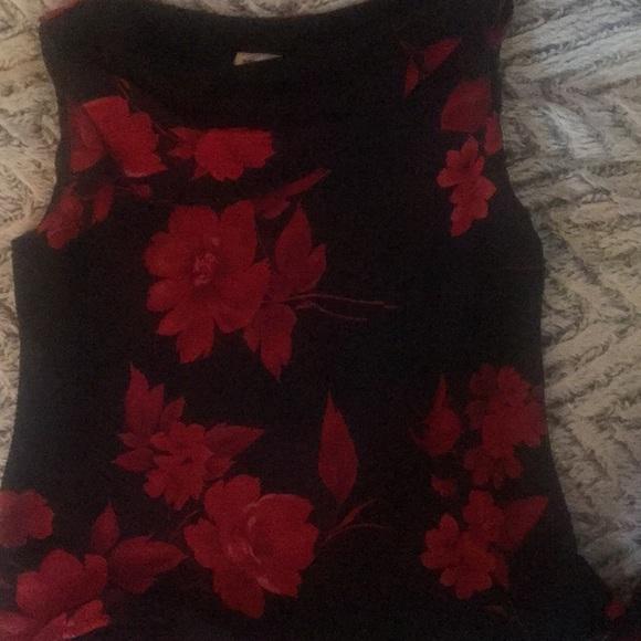 Dresses & Skirts - Flowered print sheer two piece dress